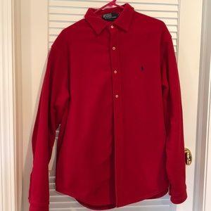 Ralph Lauren POLO red fleece shirt.